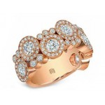 "Kifani collection rose gold diamond ""Bubble"" ring"