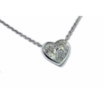 Bezel set diamond heart solitaire necklace